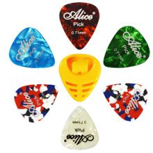6 PCS Fingers Music Play Guitar Picks Acoustic Guitar Thickness -0.71 MM