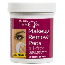 Andrea Eye Qs Oil-free Eye Makeup Remover Pads, 65 Count