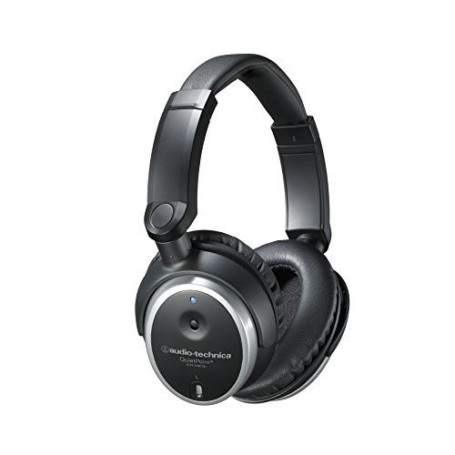Audio Technica ATH ANC7B QuietPoint Active Noise Cancelling Closed Back Headphones Wired