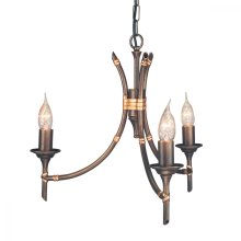 Bronze Patina 3lt Chandelier - 3 x 60W E14 by Happy Homewares