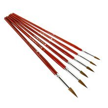 6 PCS Art Supplies Paint Brush Acrylic Paint Oil Painting - Wolf Hair Brush