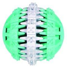Trixie 32942 Denta Fun Ball Mint Fresh Natural Rubber 7cm - Dog Toy Flavour 6 -  mint rubber ball denta fun fresh natural dog toy flavour 7cm 6