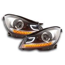Daylight headlight Mercedes C-Class (204) Year 2011-2014 black