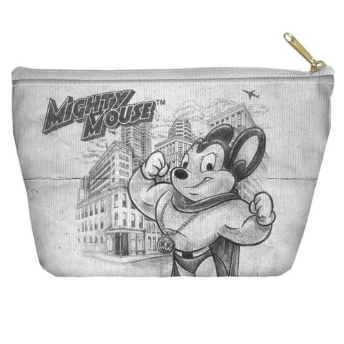 decb7b462938a Trevco CBS1493-PCH2-12.5x8.5 Cbs Tv - Mighty Mouse-Sketch - Accessory Pouch,  White - 12.5 x 8.5 in. on OnBuy