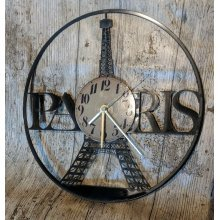 Paris Eiffel Tower Vinyl Record Clock home decor gift
