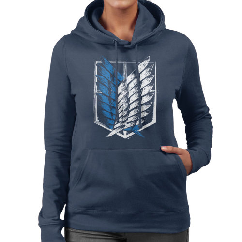 Attack On Titan Wings Of Freedom Women's Hooded Sweatshirt