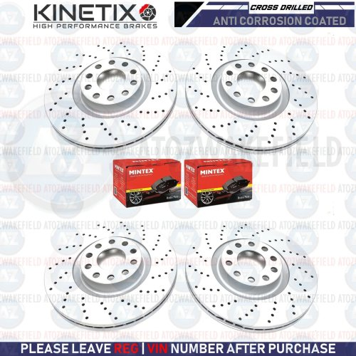 FOR BMW 335d F30 F31 FRONT REAR DRILLED PERFORMANCE BRAKE DISCS MINTEX PADS