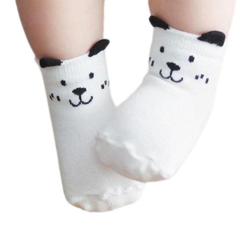 3 Pairs of Non-slip Newborn Baby Toddler Socks Warm Non-skid Stockings Baby Birthday Gift For 1-3 Year Baby-A02