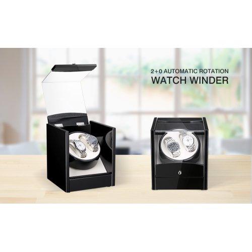 Luxury Double Automatic Watch Winder Box Display Wood Organizer Case