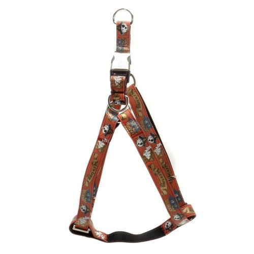 15mm x 350-600mm Red Pirate Dog Harness - Envy 15x3560cm -  dog envy pirate harness red 15x3560cm
