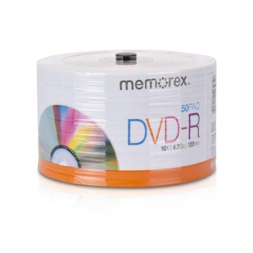 Memorex 32020031749 DVD R 16x Eco Spindle Base Discs 50 Pack