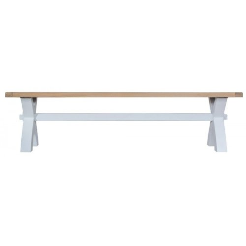 Tenby Grey Painted Furniture Small Cross Bench