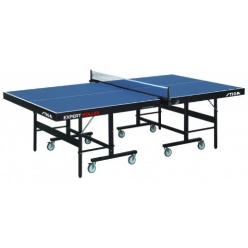 Stiga Table Tennis Table Expert Roller CSS ITTF Blue with a 25mm Top