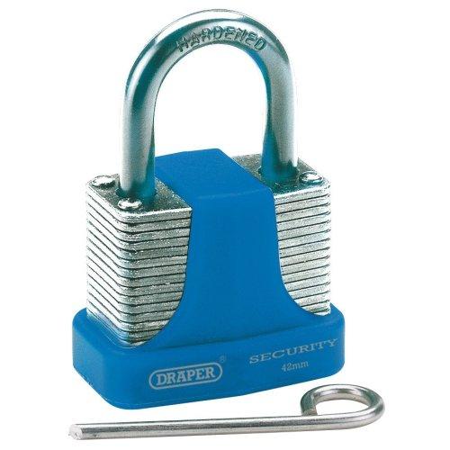 42mm Draper Resetable Combination Padlock - Steel Laminated 3 Number 64157 -  padlock draper combination steel 42mm laminated 3 number 64157