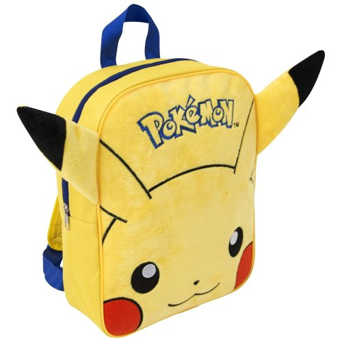 7cbadd47f2f9 POKEMON EMBROIDERED PLUSH BACKPACK PIKACHU SCHOOL RUCKSACK KIDS ADJUSTABLE  NEW on OnBuy