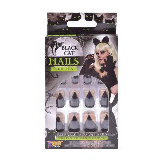Bristol Novelty Black Cat Nails