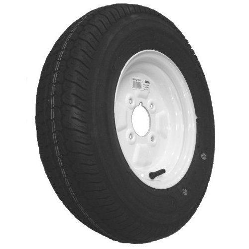 "Wheel&tyre 145x10"" Bias 6ply 4 Stud 375kg White - Maypole Wheel Tyre x Trailer -  maypole wheel tyre x trailer 21645 white 145mm 10 4ply cap 375kg"