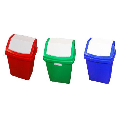 50L Plastic Color Coded Swing Bin Recycle Recycling Bins Rubbish,Waste Dustbin