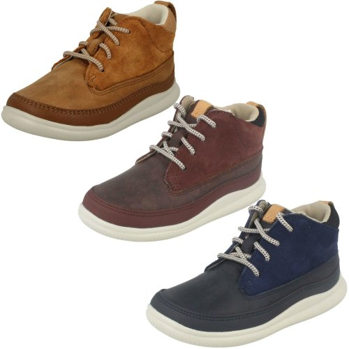 Boys Clarks Casual Ankle Boots Cloud Air - F Fit
