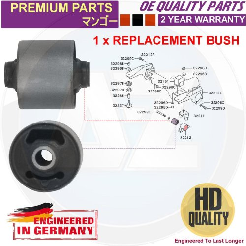 FOR MITSUBISHI CHALLENGER K96W FRONT ARM HOLDER DIFFERENTIAL MOUNTING BUSH 1998-