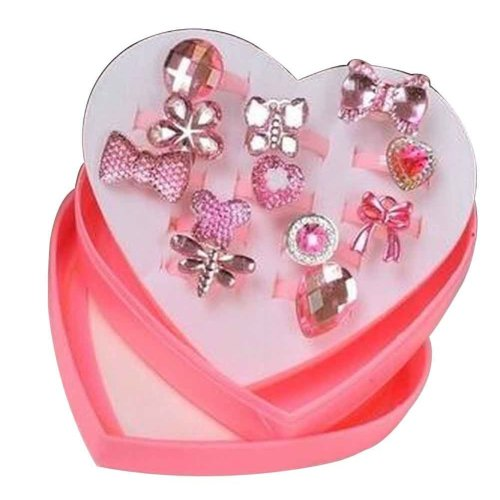 Shiny Plastic Girls Toy Rings, Princess Dress Up [G]