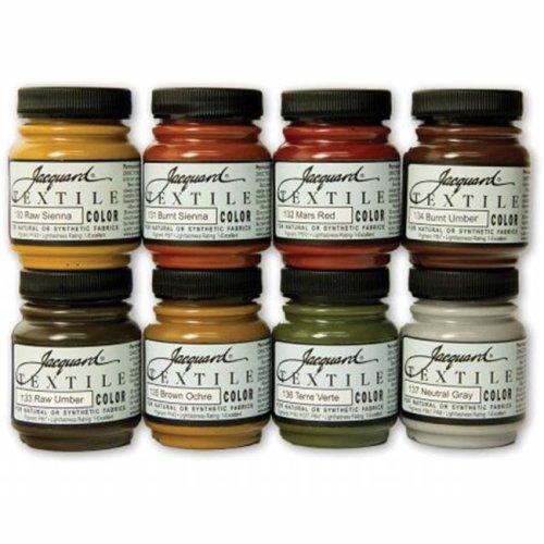 Jacquard Textile Color Fabric Paint 2.25oz 8/Pkg-Earth Tones
