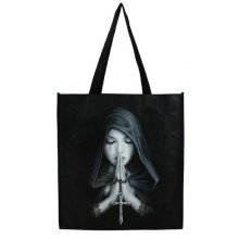 Anne Stokes Gothic Prayer Shopping Bag Medium Pagan Reusable Tote 39cm