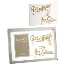 Tracey Russell Photo Frame & Glitter Print Mount - 50th Anniversary