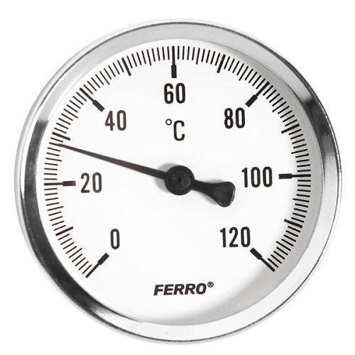 63mm 0 - 120c Thermo Water Oil Temperature Gauge 1/2 Inch Rear Entry Thermometer