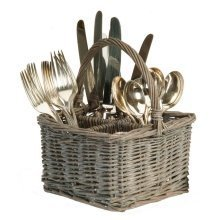 Willow Cutlery Holder in Grey