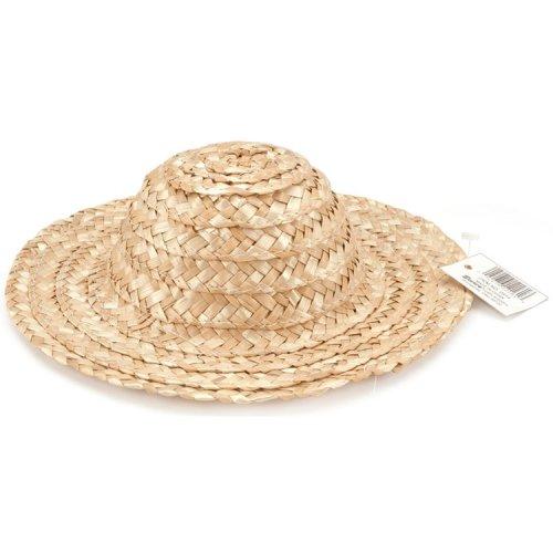 "Round Top Straw Hat 14""-Natural"