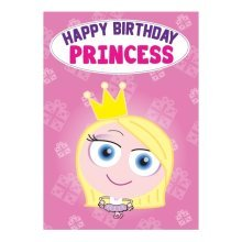 Birthday Card - Princess