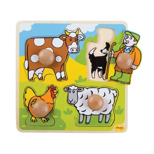Bigjigs Toys My First Peg Puzzle Farm