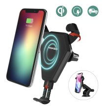 iPhone X Wireless Qi Car Charger,Wofalo Car Mount Air Vent Phone Holder Cradle