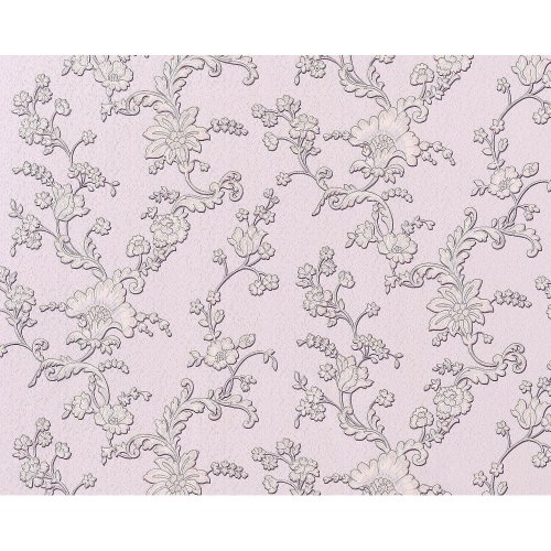 EDEM 919-39 non-woven wallpaper luxury 3D flower syringa rose violet | 10.65 sqm