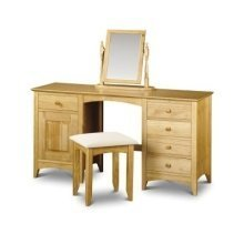 Morento Pine Dressing Table Twin Pedestal - Fully Assembled Option