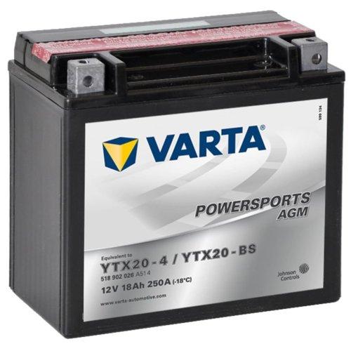 Varta AGM Battery 12 V 18 Ah YTX20-4 / YTX20-BS