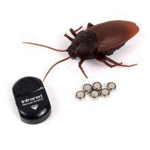 Simulation Infrared RC Remote Control Scary Creepy Insect Cockroach Toys Black