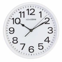 Stylish White Bold Classic Quartz Wall Clock Non Ticking Silent Sweep