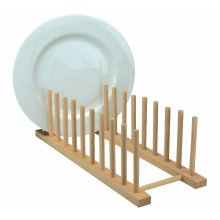 Wooden Kitchen Dish Plate Drying Drainer Draining Board