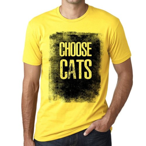 f4b63783573 Mens Vintage Tee Shirt Graphic T shirt Choose CATS Pale Yellow on OnBuy