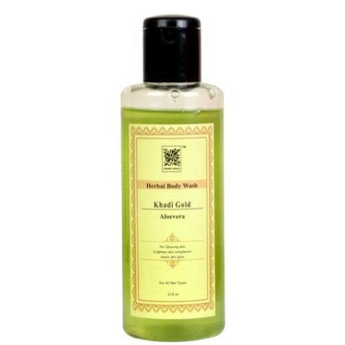 2 Pack Khadi Gold Aloe Vera Body Wash, 210 ml each