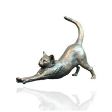 Bronze Cat Stretching Figure - Butler & Peach - 2020