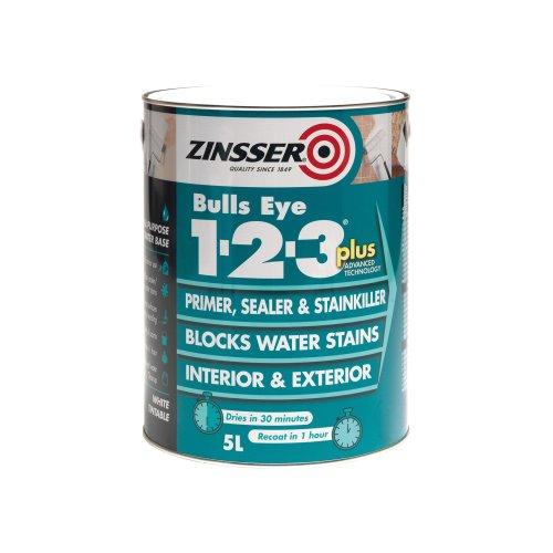 Zinsser ZINBE123P1L 1 Litre 123 Bulls Eye Plus Primer/Sealer Paint