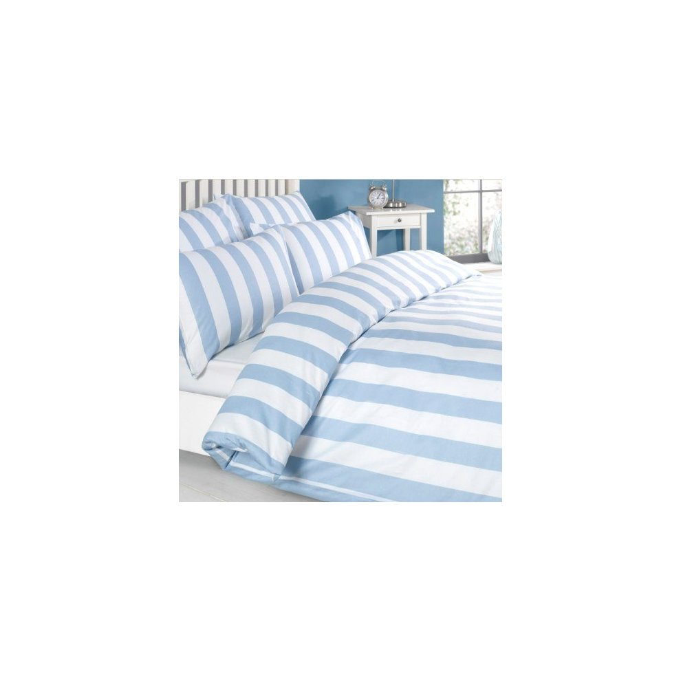 Louisiana Bedding Vertical Grey /& White Stripe Duvet Cover Set 100/% Cotton 200 Thread Count-Single