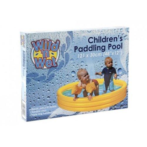 48 X12 3-ring Paddling Pool Pp Bag W/insert Blue Col 7.2g - Ring Paddling Pool -  ring paddling pool 3 swimming garden baby childrens kids 48x12