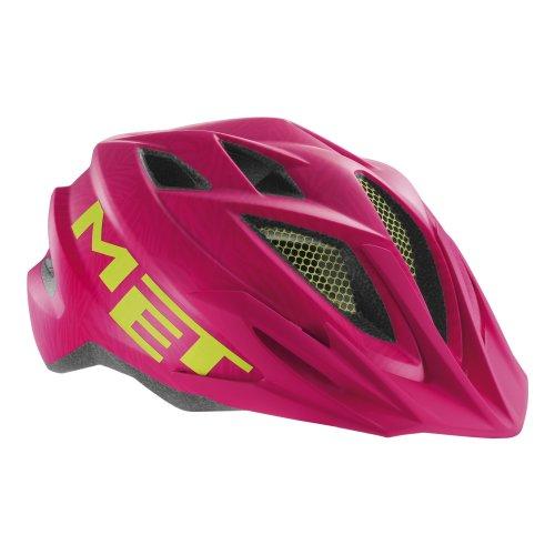 Met Kid's Crackerjack Helmet - Pink/Green Texture, 52-57 cm