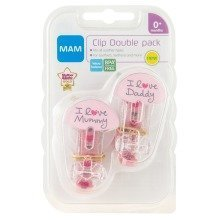 Mam 2 Soother Clips - Girl (pink)