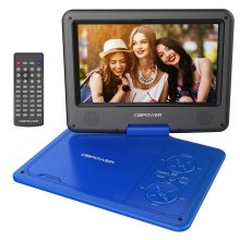 """DBPOWER 9.5"""" Portable DVD Player, 5 Hour Rechargeable Battery, Swivel Screen"""
