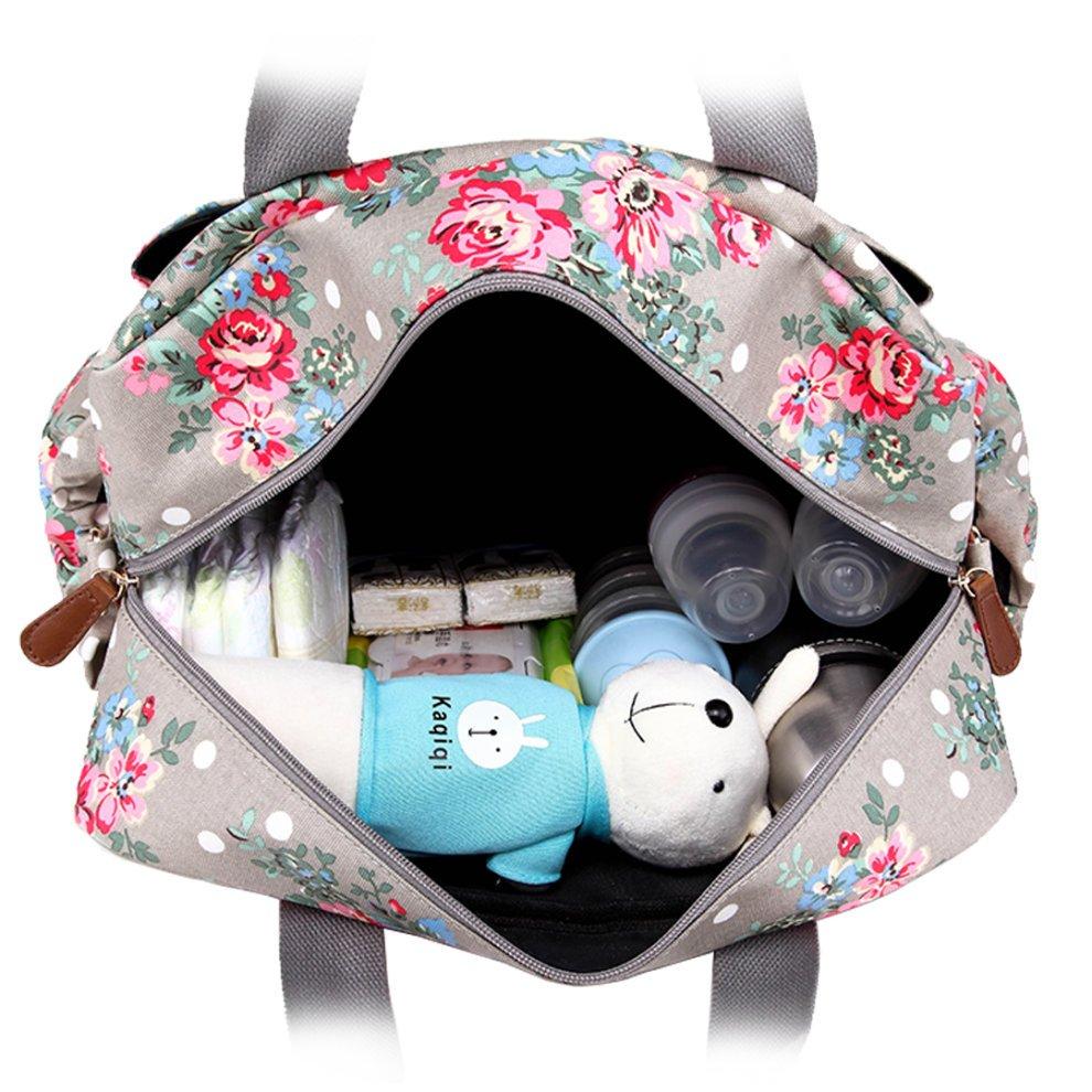 88bdab53e57c7 ... Miss Lulu Baby Diaper Nappy Changing Bag Set Large Mummy Maternity  Handbag Flower Bird Cat Dog ...